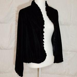 Black Velvet dress jacket size medium